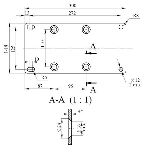 Опорная плита для трансформатора ТОЛ-10-IМ-2