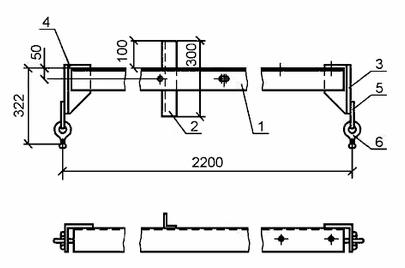 чертеж траверсы ТМ 12