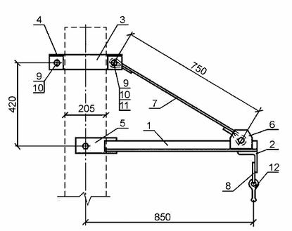 чертеж траверсы ТМ 15