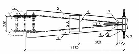 чертеж траверсы ТМ 17