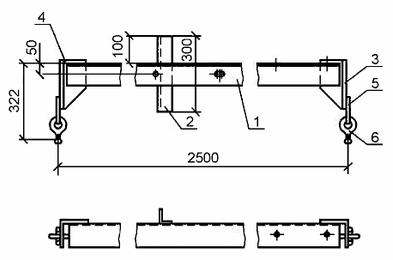 чертеж траверсы ТМ 19