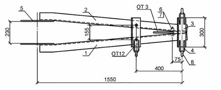 чертеж траверсы ТМ 21